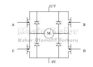 Konstruksi Rangkaian Driver Motor DC H-Bridge MOSFET