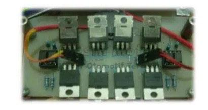 desain papan (board) dari rancangan driver motor MOSFET DC