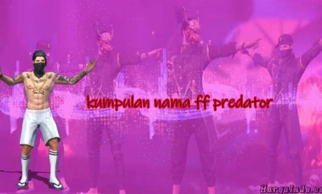 kumpulan nama predator