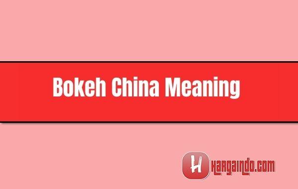 bokeh china meaning