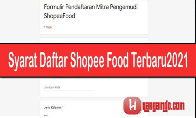 Syarat Daftar Shopee Food Terbaru 2021